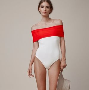 Rosetta Getty Off The Shoulder Swimsuit